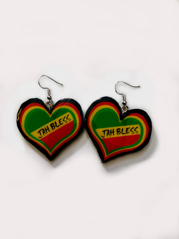 Jah Bless Heart Earrings