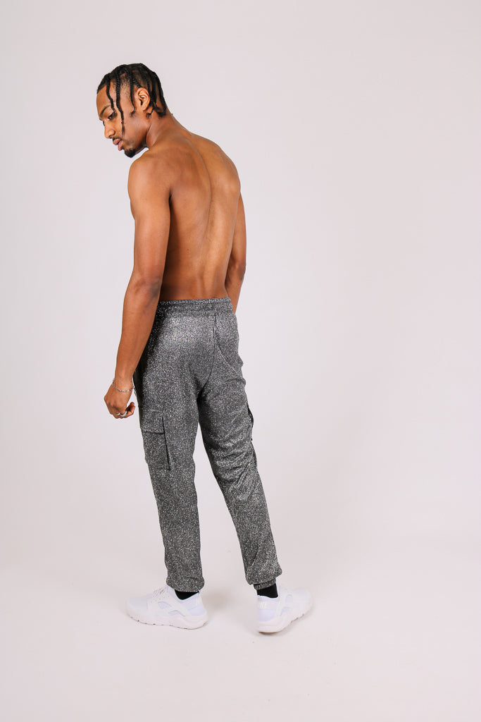 Let Your Outfit Do The Talking 'Glitter Cargo Pants'