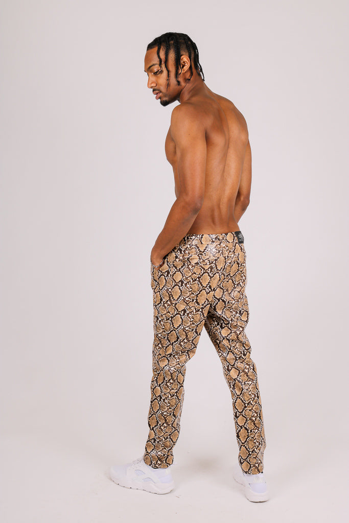 They've Already Got Your Attention 'Brown Snake Patent Trouser'