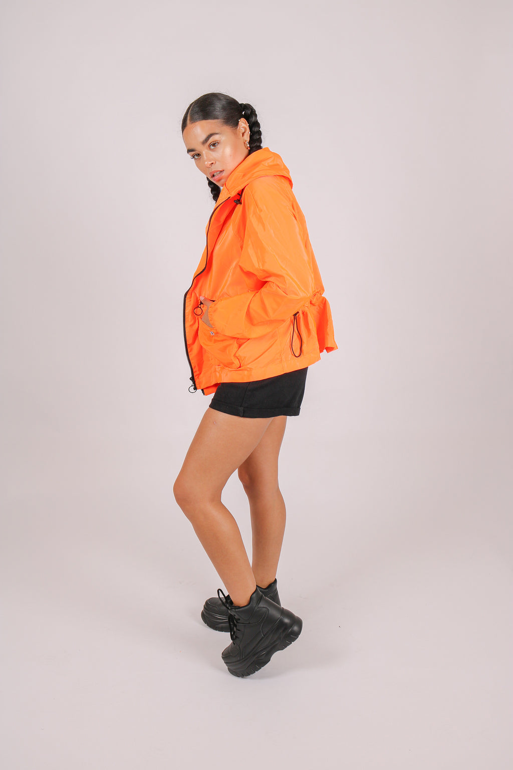 Hey, Fancy Pants 'Neon Orange Wind Breaker Jacket'