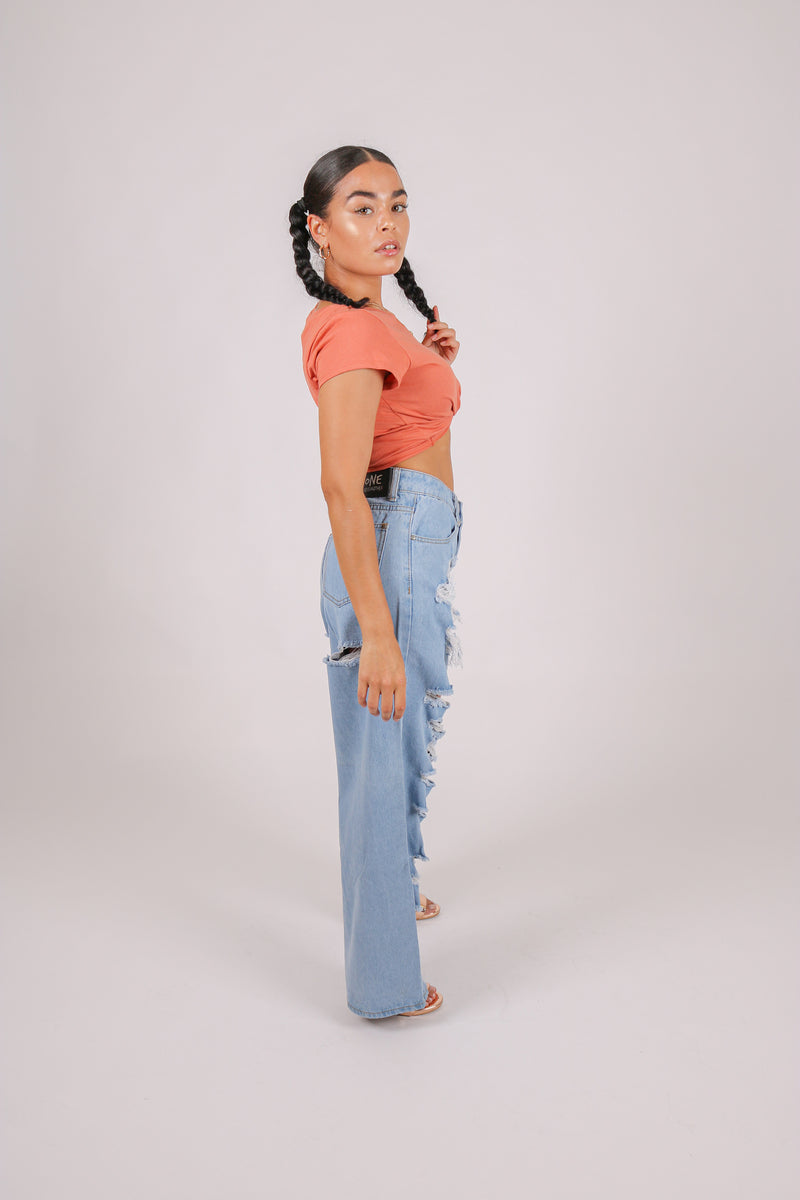 For Your Daytime Thing 'High Waist Ultra Baggy Mom Jeans In Vintage Wash Denim'