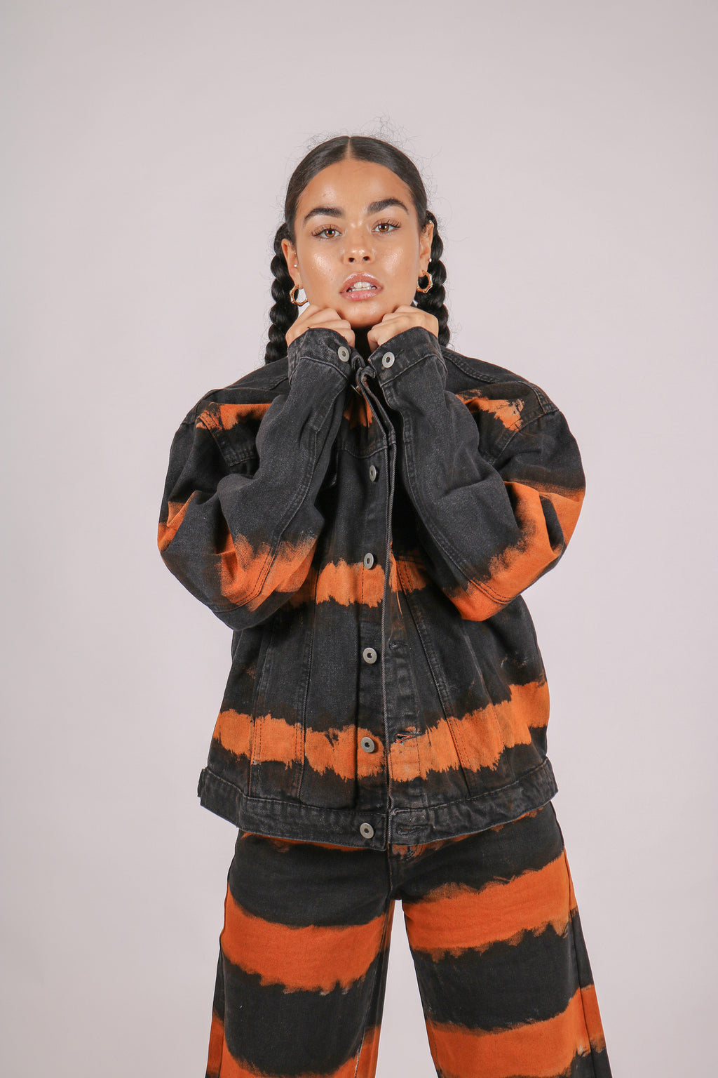 More Room For Activities 'Oversized Jacket In Tie Dye Denim'