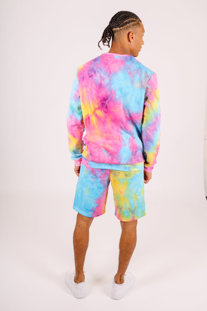 Part Of A Co-ord Set 'Candy Tie Dye Shorts'