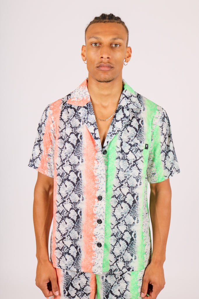 For Those That Like To Be Extra 'Splice Snake Print Shirt'