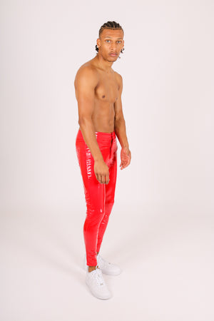 Like Being Fancy? 'Red PU Meggings'