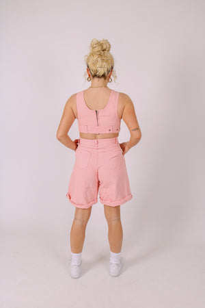 Part Of A Co-ord Set 'High Waist Shorts In Pink'