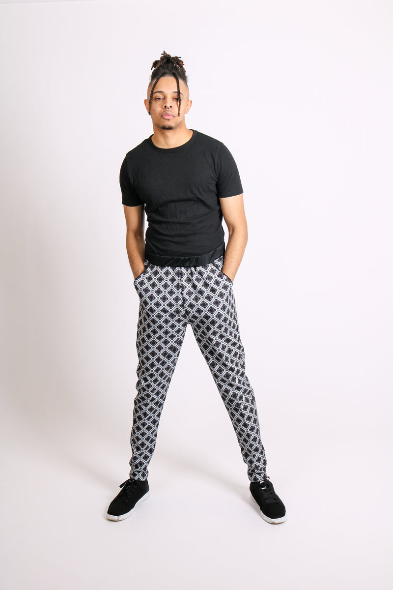 Put The Jeans Away For A Day 'Geometric Printed Tailored Trousers'