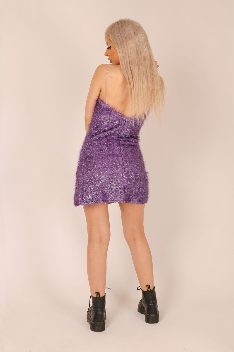 Lit up like xmas - Cami dress in sparkle tinsel