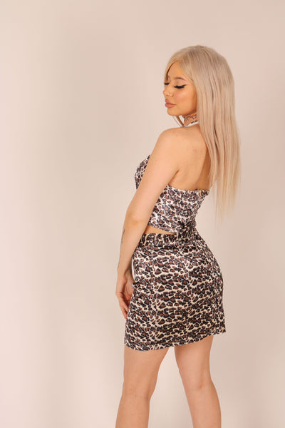Wild Leopard Halter Neck Top