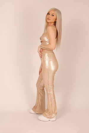 Dazzle me - High rise Flares in sequin