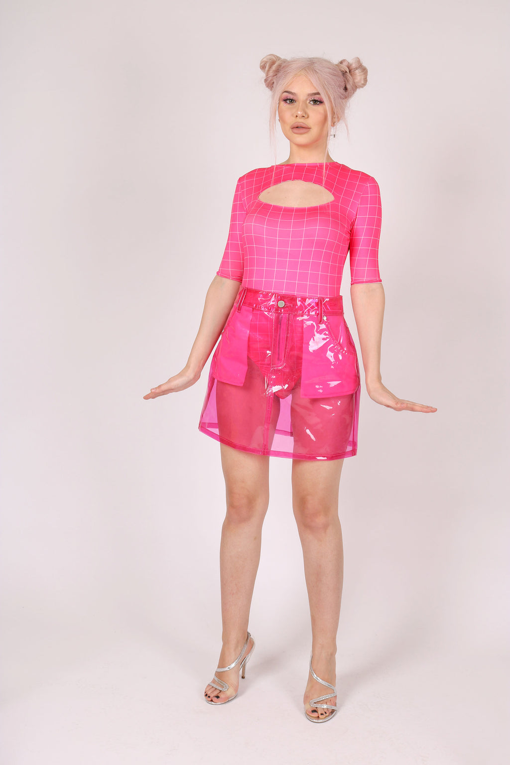 In A Barbie World 'Pink Clear Vinyl Skirt'