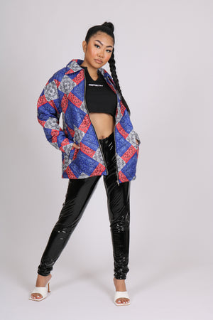 Big Vibes, Bold Looks 'Bandana Patchwork Quilted Jacket'