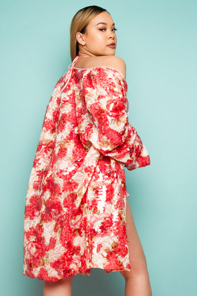 Ideal For Layering 'Kimono In Patch Sequin'
