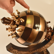 Globe Chess Sphere Chess spherical 3d chess playing board wood carved steel