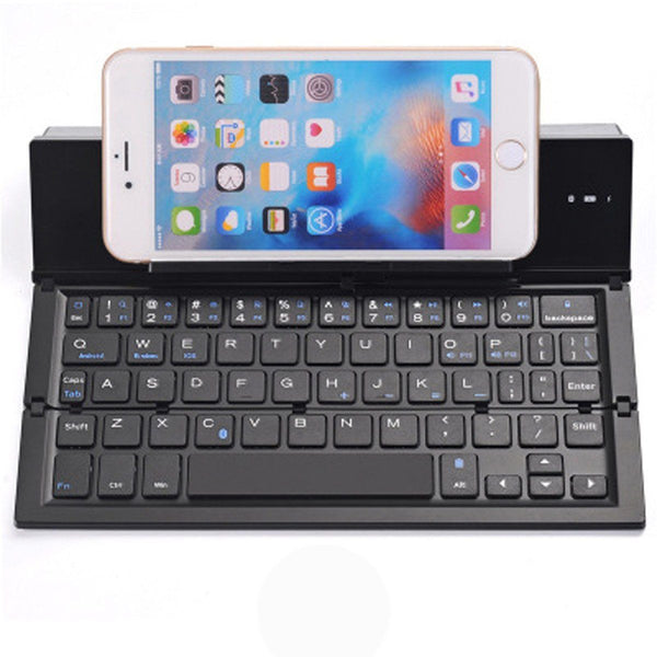 Aluminum Alloy Portable Ultra Slim Wireless Bluetooth Keyboard with Stand - HIPSTERR