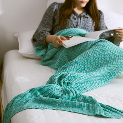 Comfy High-quality Mermaid Fish Tail Blanket for Adult & Kid - HIPSTERR