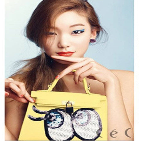 Korean Style Premium PU Leather Big Cute Eye Bag - HIPSTERR