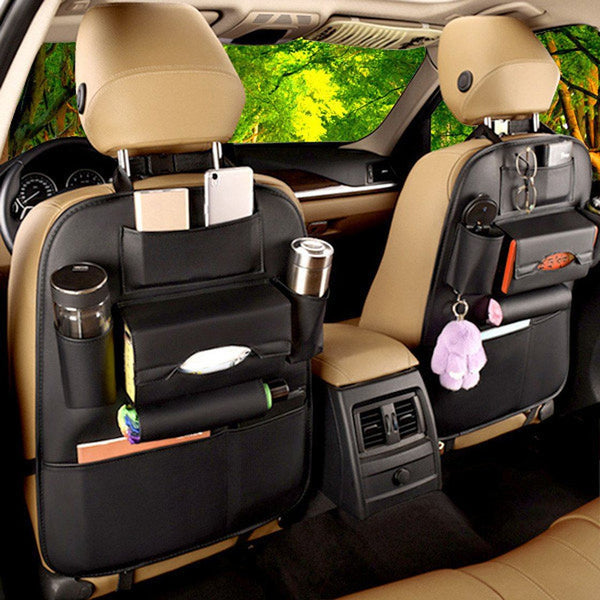 High Quality Anti-Scratch & Waterproof PU Leather Car Back Seat Organizer - HIPSTERR