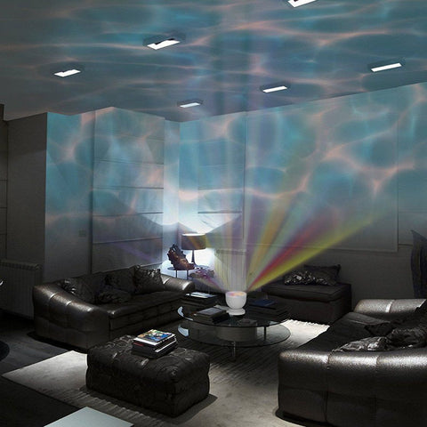 Aurora Master Ocean Wave Night-Light Projector with Built-in Speaker - HIPSTERR