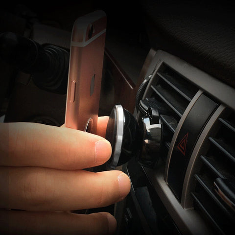 Powerful Air Vent 360°c Magnetic Car Phone Holder for All Phones - HIPSTERR
