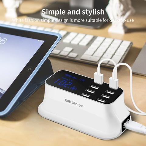 Stylish Multi-Port USB Charger with Smart Charging Technology