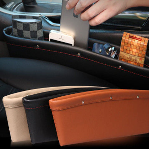 Car Side Seat Pocket Organizer Leather - HIPSTERR