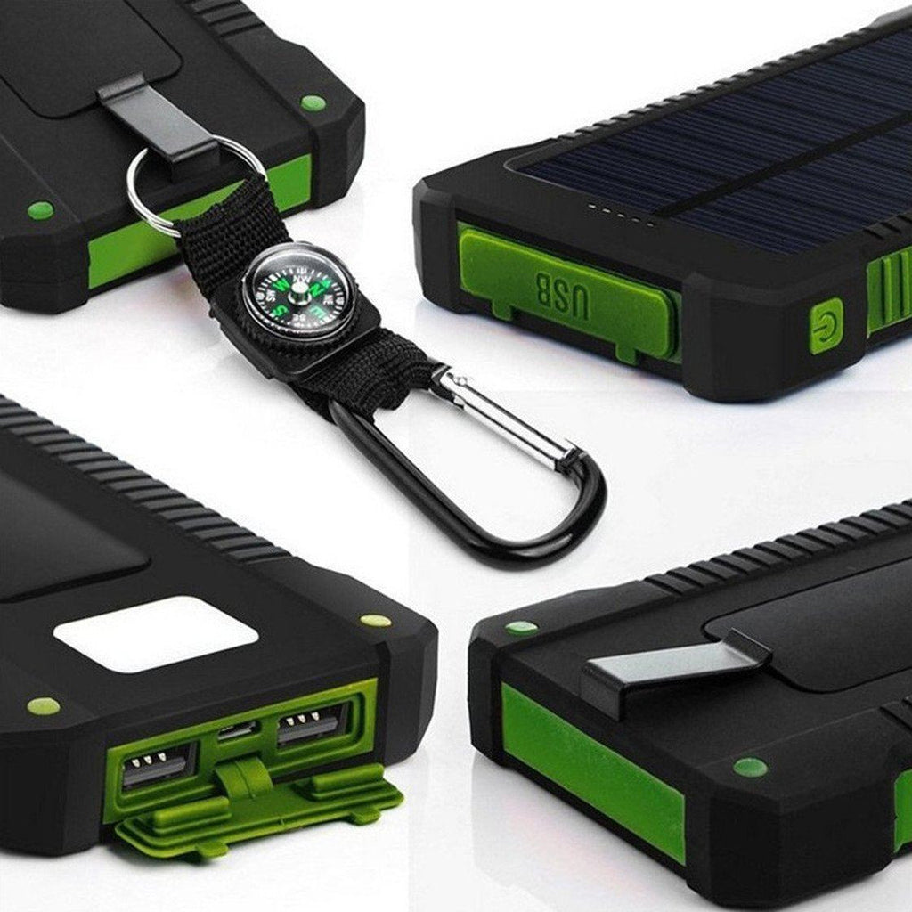Solar Power Bank 20000mah Dual Usb Solar Panel Charger