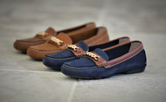 badminton leather loafers