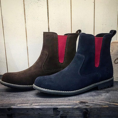 cotswold suede chelsea boots