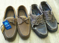 orca bay premium quality leather deck shoes