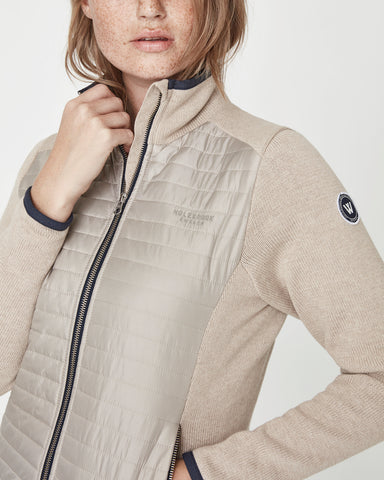 holebrook sweden mimmi ladies quilted windproof jacket khaki