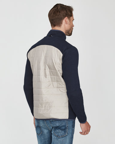 holebrook sweden mimmi mens quilted windproof jacket navy khaki back