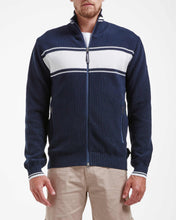 Holebrook Sweden Leo Zip Mens Windproof Jacket Navy Off White