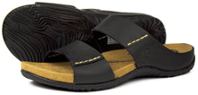 Orca Bay Antigua Mens Nubuck Leather Sandals Dark Brown