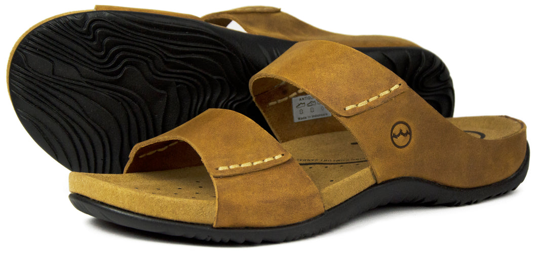 Orca Bay Antigua Mens Nubuck Leather Sandals Sand