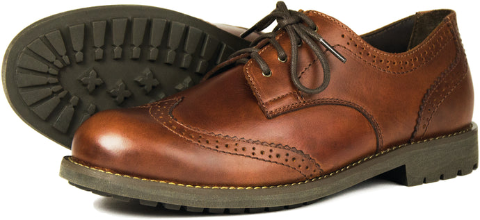 Orca Bay Country Brogue Mens Polished Leather Lace up Shoes Elk