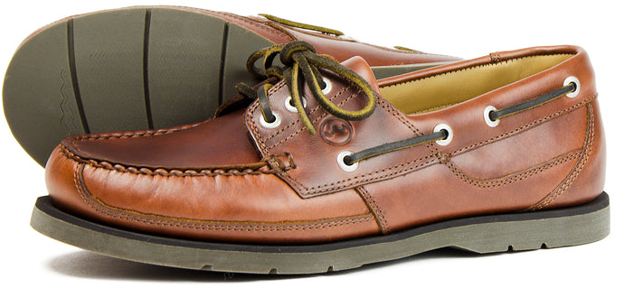 Orca Bay Cherokee Mens Polished Leather Deck Shoes Elk