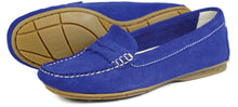 Orca Bay Florence Ladies Suede Loafer Shoes Cobalt Blue