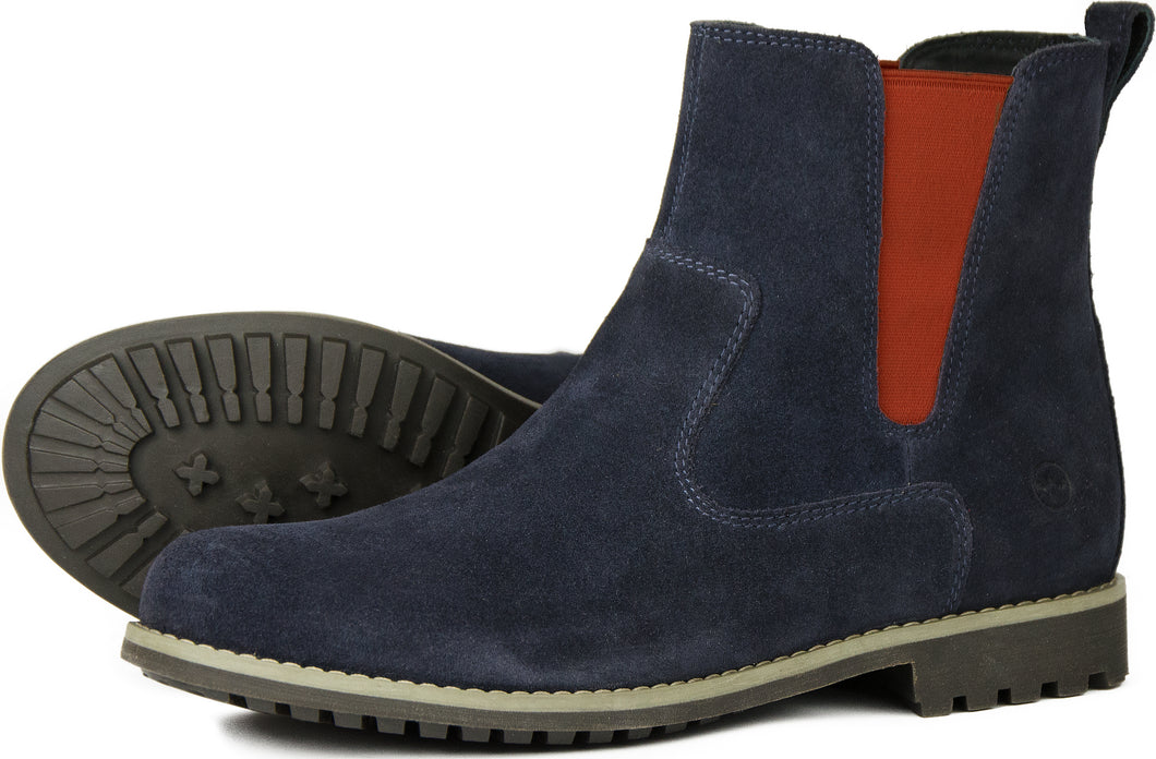 Orca Bay Cotswold Ladies Suede Chelsea Boots Navy
