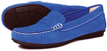 Orca Bay Florence Ladies Suede Loafer Shoes Royal Blue