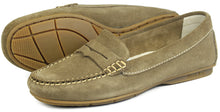 Orca Bay Florence Ladies Suede Loafer Shoes Mushroom