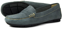 Orca Bay Florence Ladies Suede Loafer Shoes Grey