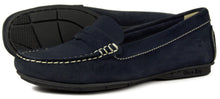 Orca Bay Florence Ladies Suede Loafer Shoes Navy