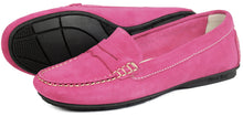 Orca Bay Florence Ladies Suede Loafer Shoes Pink