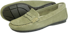 Orca Bay Florence Ladies Suede Loafer Shoes Sage