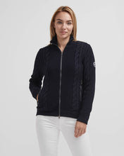 Holebrook Sweden Jossan Ladies T-Neck Full-zip Windproof Sweater Navy
