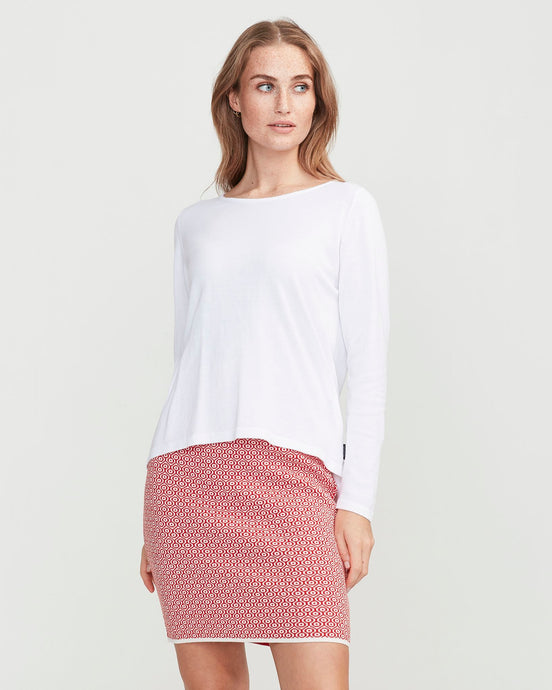 Holebrook Sweden Amira Skirt Off White Scarlet Red
