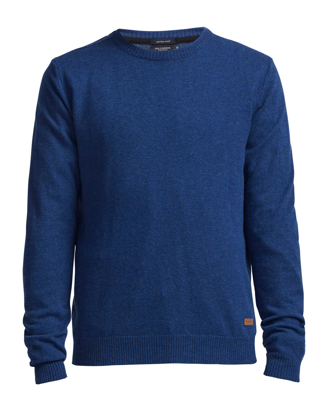 Holebrook Sweden Einar Mens Crew Neck Jumper Cobalt Blue