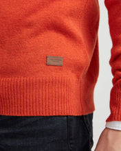 Holebrook Sweden Einar Mens Crew Neck Jumper Orange