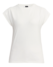 Holebrook Sweden Fiona Ladies cap sleeve cotton t-shirt off white